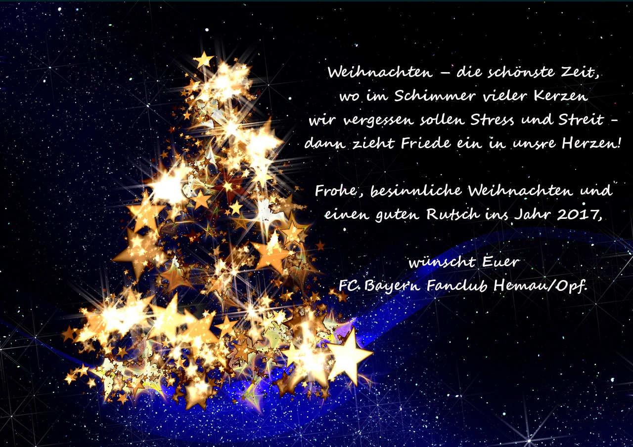 Frohe Weihnachten Besinnlich.Frohe Weihnachten Und Einen Guten Rutsch Fc Bayern